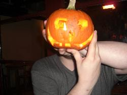 and more of me as the pumpkin head...